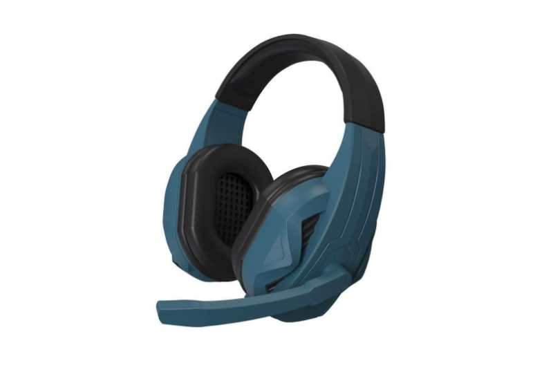 Wired Black and Blue Gaming Headset with Microphone Super Comfortable USB Headset