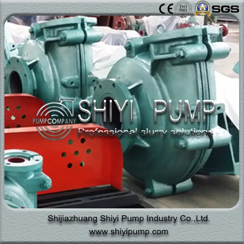 High Head Water Treatment Anti-Corrosion Mill Discharge Rubber Lined Centrifugal Slurry Pump