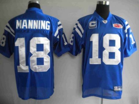 46f2dc4e6b8cb Reebok NFL Jerseys Indianapolis Colts 18 Peyton Manning blue[superbowl]