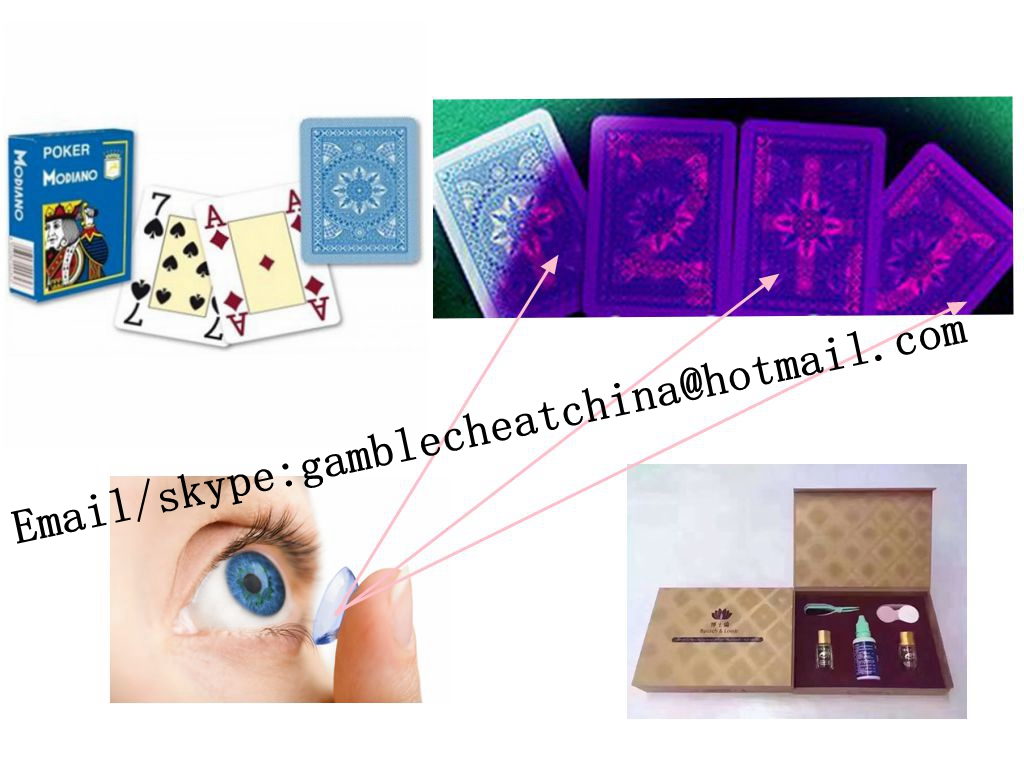 Modiano Cristallo blue color plastic marked cards/uv contact lenses/perspective glasses/casino cheat