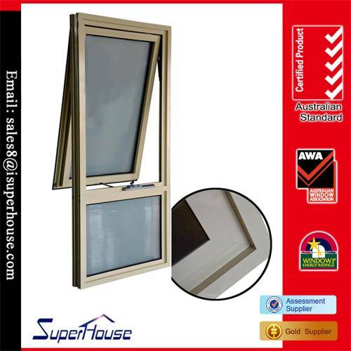 Euro type aluminium or UPVC awning window with top hung