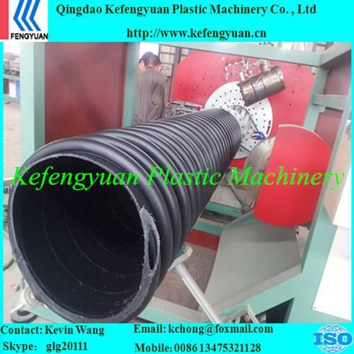 B type structure wall corrugated krah carat pe hdpe pipe tube extrusion machine