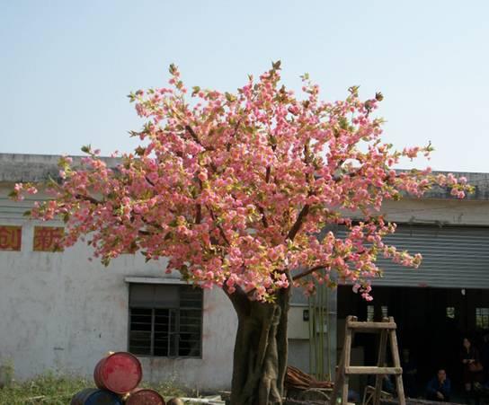 2014 High quality artificial cherry blossom tree decorative fake cherry blossom tree for indoor & ou