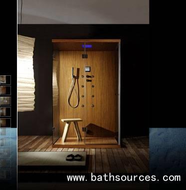 Wooden steam shower cubicle cabin/shower cubicles/shower enclosure/shower house/steam shower cabins