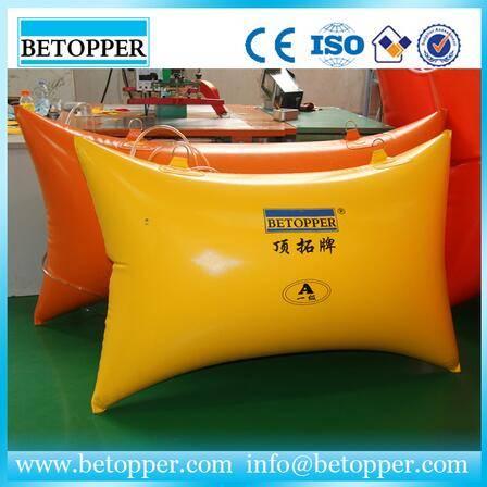 Yellow polymer marble block air pushing bag