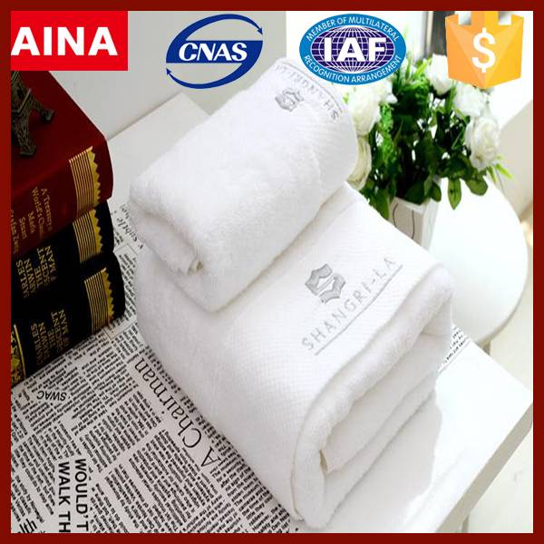 China Top 10 Towels' supplier dry fast 100% cotton Jacquard weave white hand towel