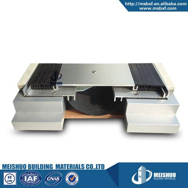 Horizontal aluminum profile floor expansion joint