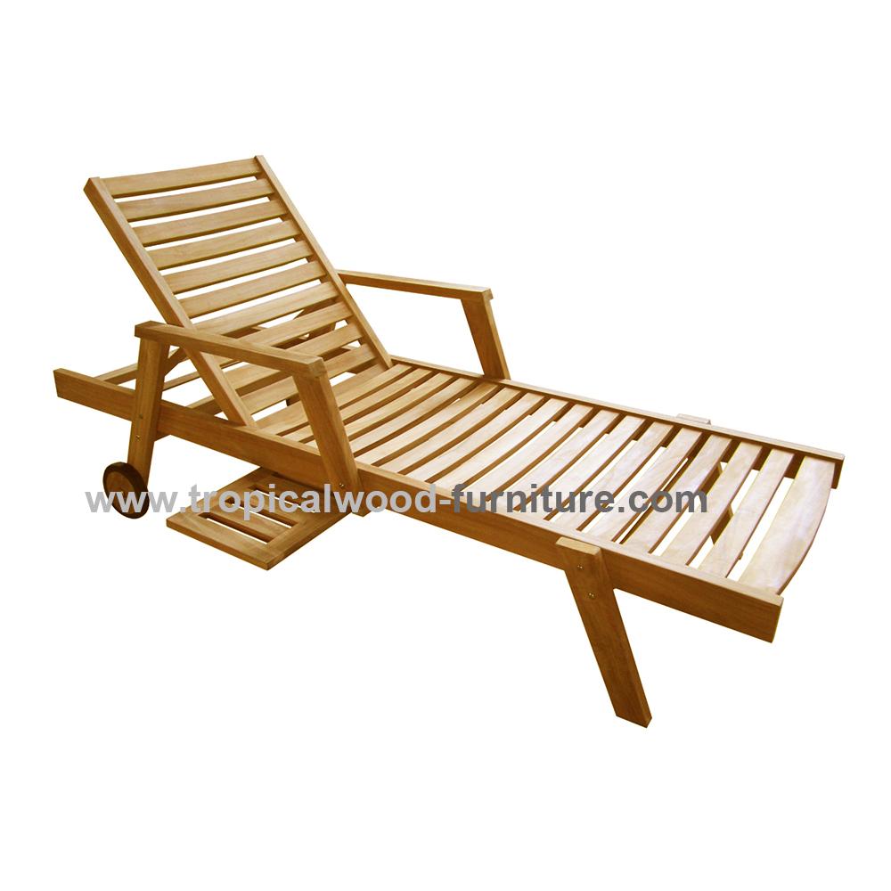 GILI Teak Garden Sunlounger Arms Chair