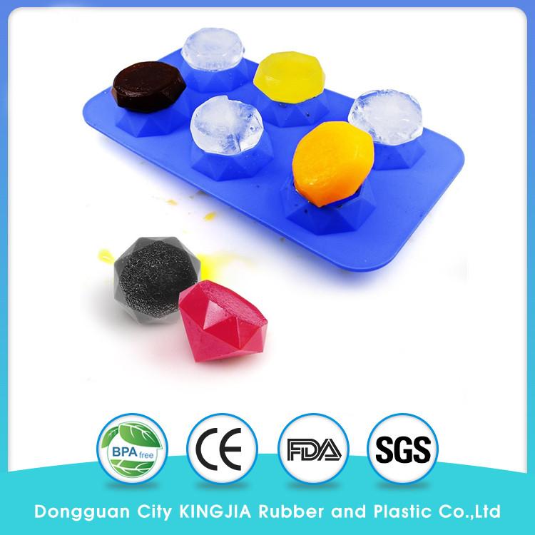 Diamond Shape Silicone Flexible Ice Tray mold