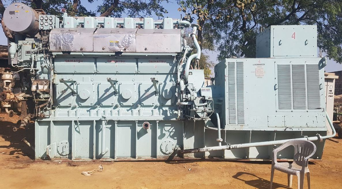 FOR SALE DAIHATSU DIESEL ENGINE (MARINE ENGINE) MODEL-6DK28, 2250 KVA