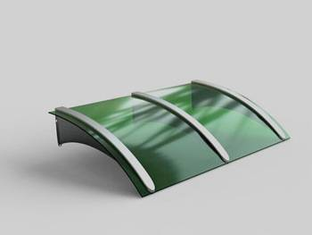 UNIQUE vPolycarbonate rain canopy awning for window awning shelter or door canopy