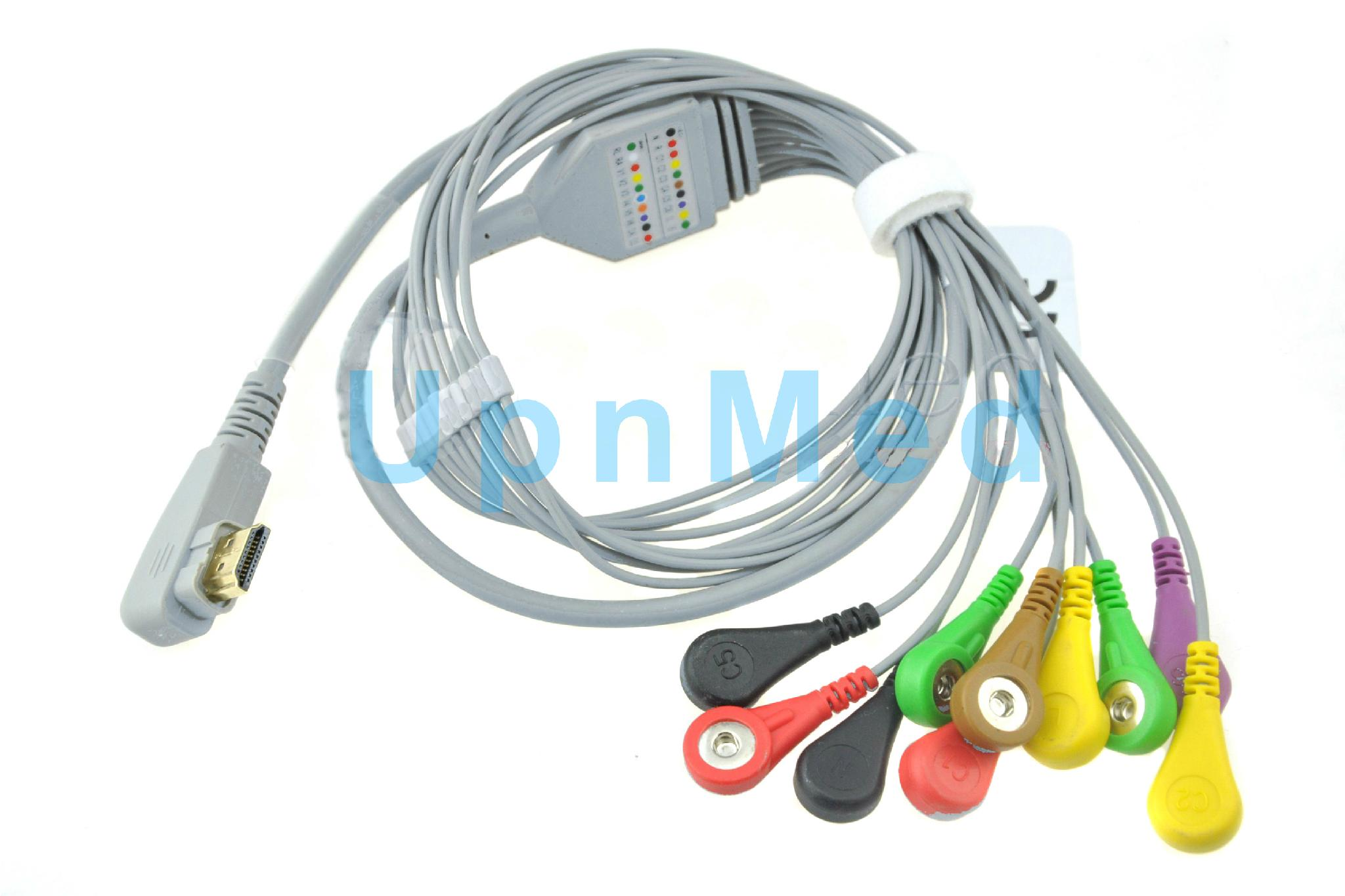 HDMI One Piece Series EKG Cable With Lesdwires
