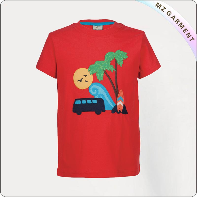 Kids Ecological Sunset Beach Tee