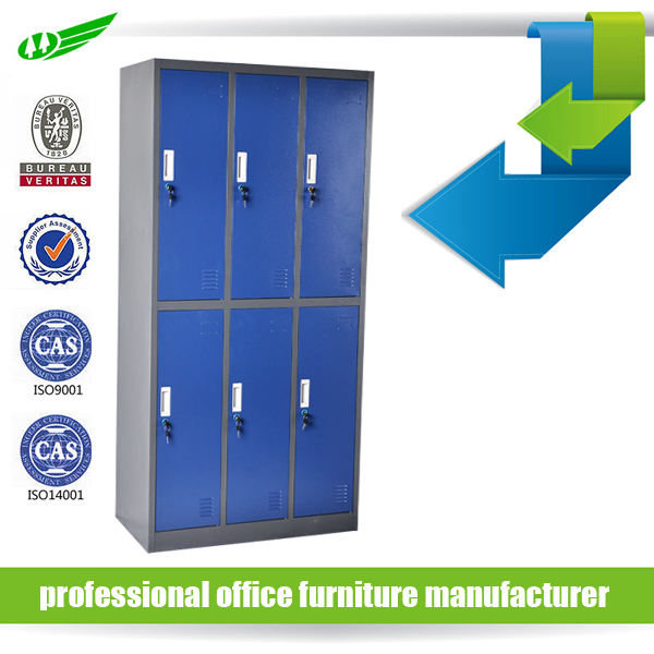 Cupboard Storage 6 Door Steel Metal Locker