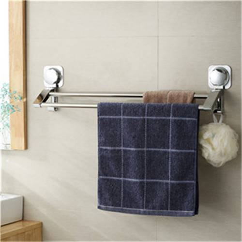 Double Stailness Steel Towel Bar with Suction Cup