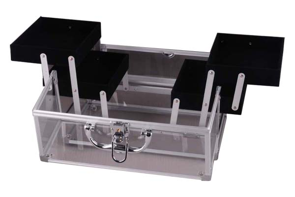 Acrylic Cosmetic Case with Four Extendable Trays