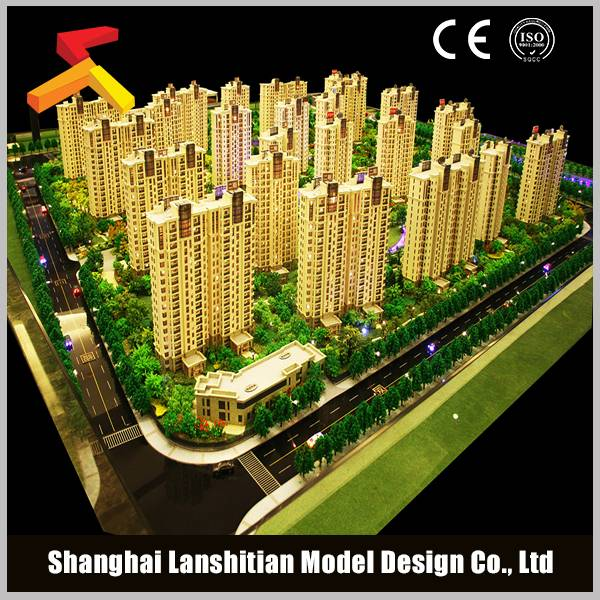 Scale architectural model making for real estate building model