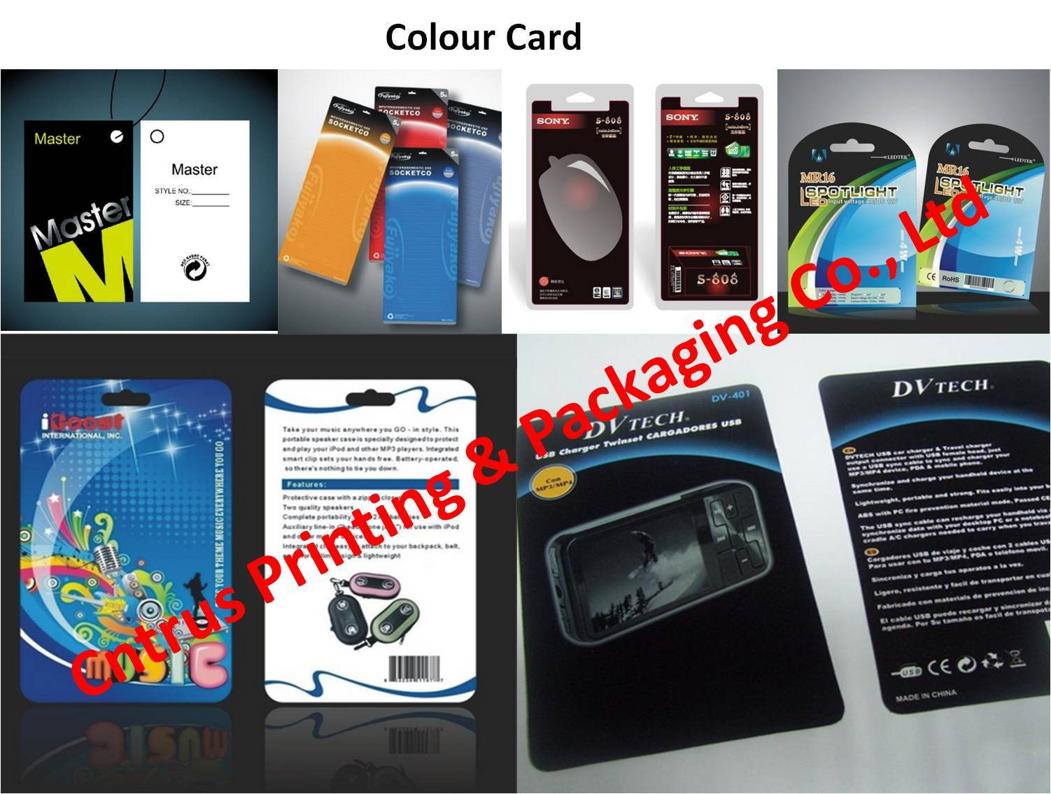 PET Sliding Card for Blister Packaging