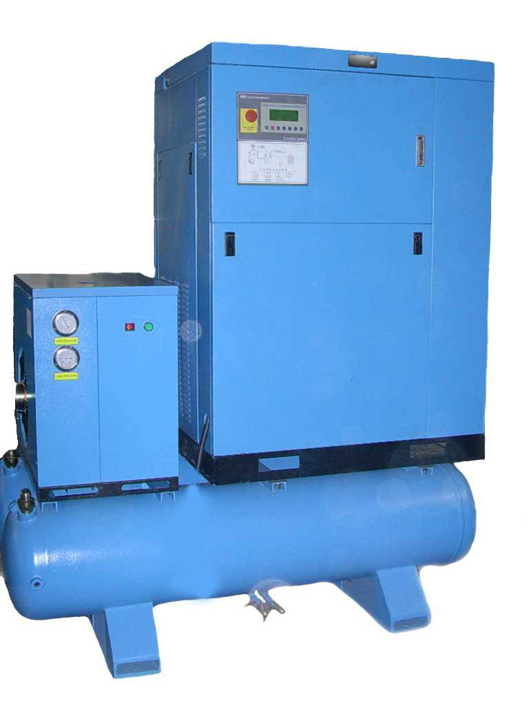 30hp screw compressor with dryer and tank