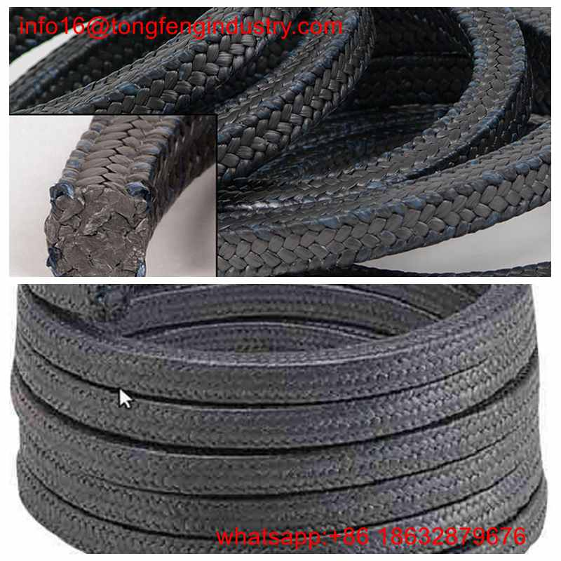 High Pressure PTFE Graphite Braided Gland Packing in Pump Valves Steam