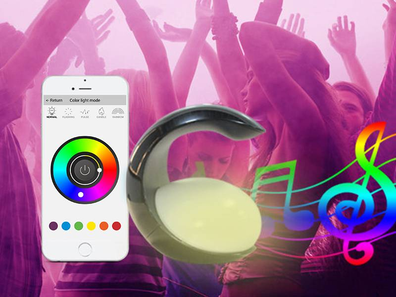 2016 Newest Bluetooth Speaker Led Bulb Speaker Colors Changing by App Controlled for all Smart Phone