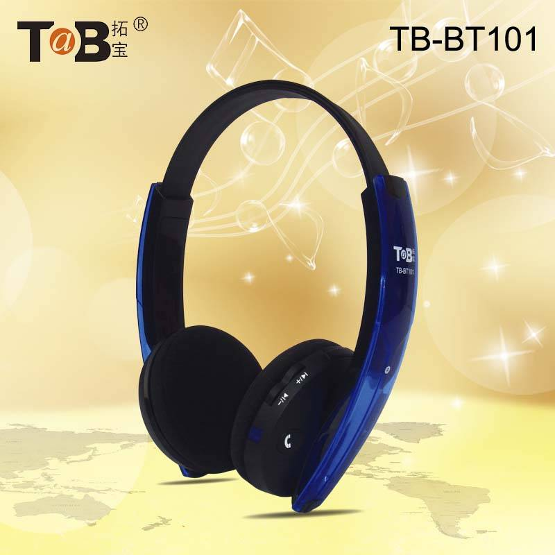 Stereo Folding Stretchable Bluetooth Headphone Headband Headset with built-in mic for audio device