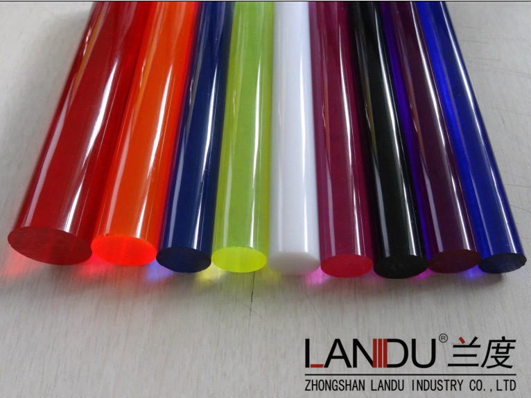 High quality different size colorfuleacrylic round rods acrylic round bars acrylic round sticks