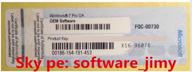 100% online activation windows 7 coa stickers labels license