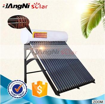 Pre-heated Pressure Integrative With Copper Coil Solar Water Heater Unit