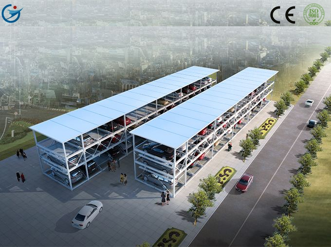 9 cars 4 level vertical car parking system