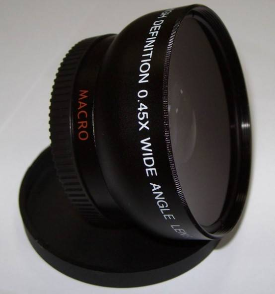 High Definition 52mm 0.45x Camera Lenses With Wide Angle Lenses for Canon 100d