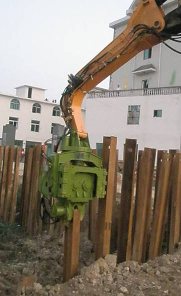 YZM75 excavator mounted vibro hammer