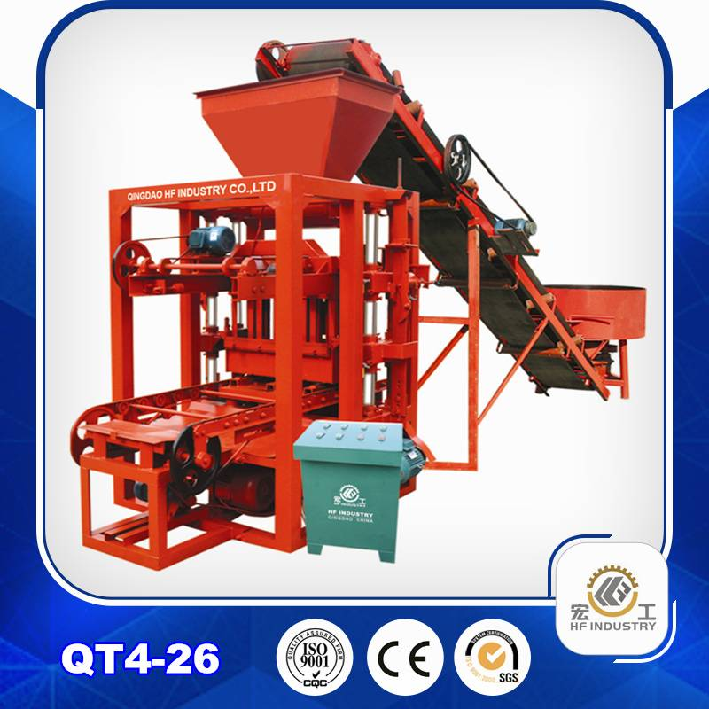QT4-26 block making machine brick making machine