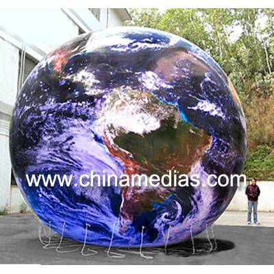 Waterproof Inflatable Advertising Helium Earth Balloons Globe for Opening Event