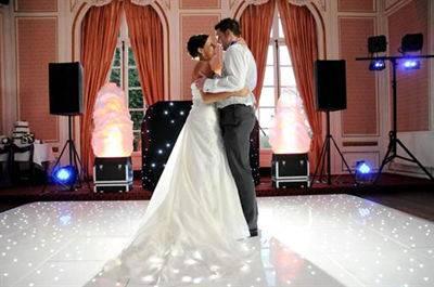 2015 best selling wedding black and white dance floor