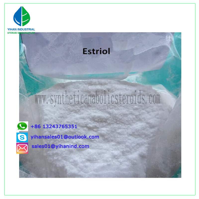99% High Quality Safe Estrogen Steroid Powder Estriol CAS: 50-27-1 Judy