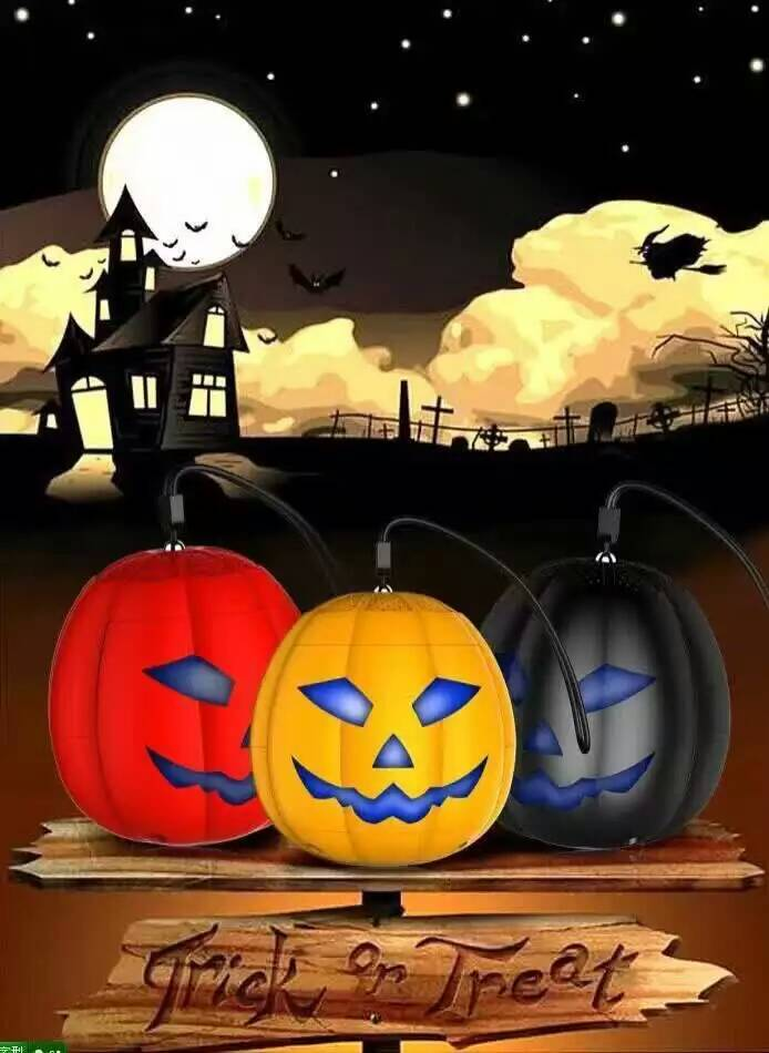 2016 new arrival Portable bluetooth pumpkin speaker outdoor wireless speaker