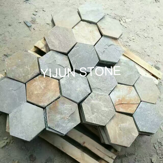 YIJUN STONE/ Hexagon natural stone/ Paving stone