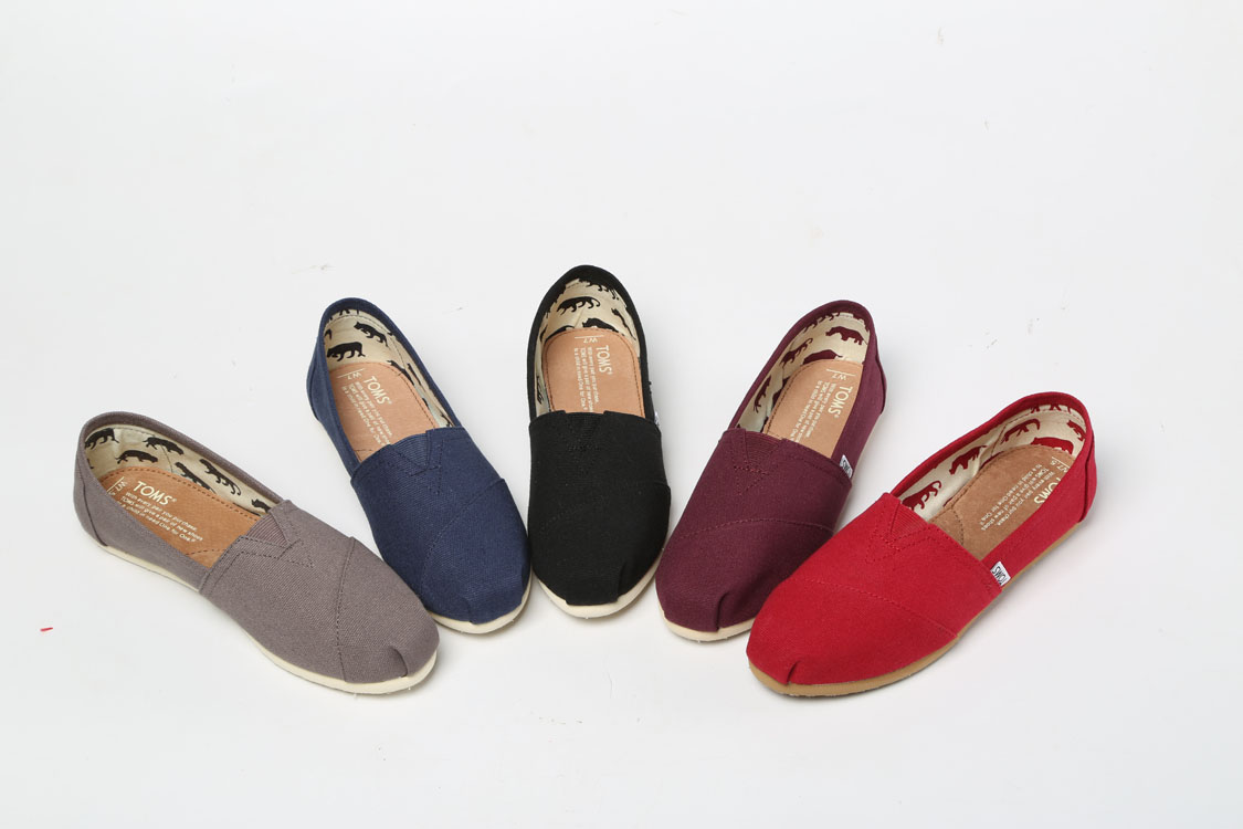 Stock Classic TOMS Canvas Shoes