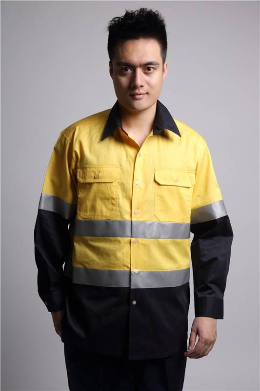 custom hi vis cotton workwear shirt