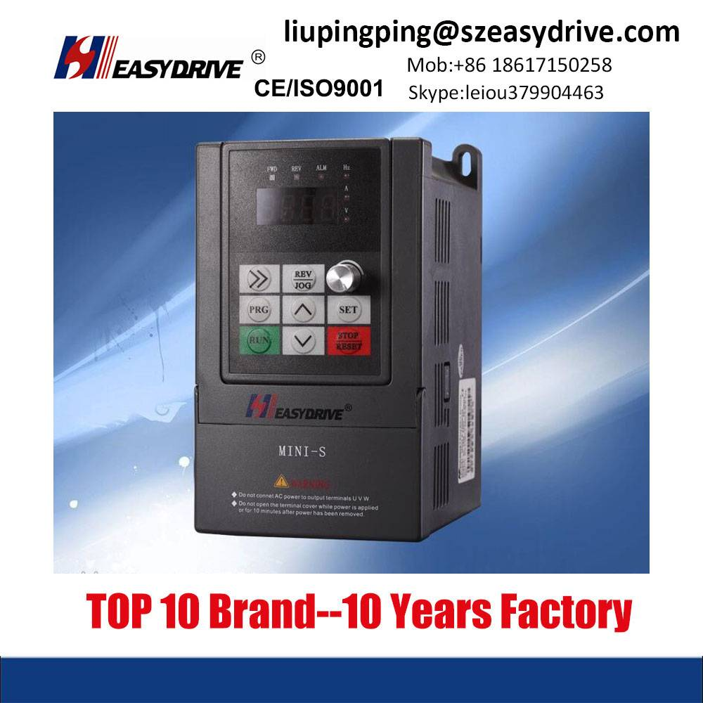 220v Single phase 0.75-1.5kw Frequency Inverter with Small Size