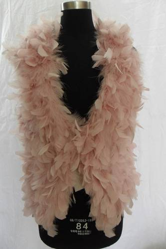 tongchem feather fur vest