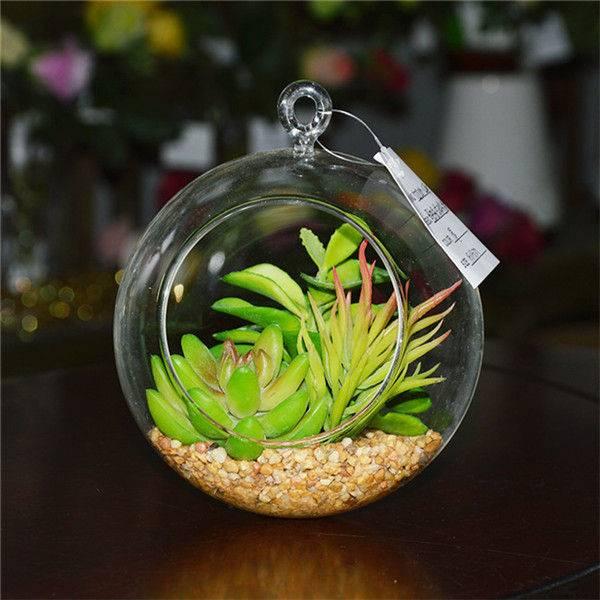 Home Decorative Hanging Artificial Succulent Plants Terrarium