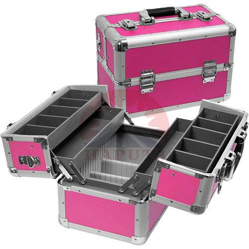 Rose Aluminium Makeup Travel Case with 4 Trays (HB-3210)