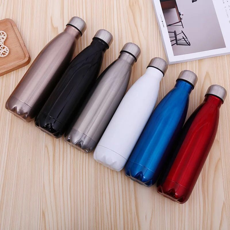 Eco Drinkware GV003 500ml Vacuum Insulated Travel Water Bottle cola shape vacuum flask thermos