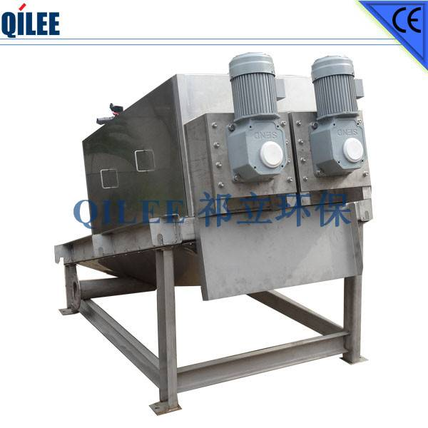 Chemical Industry Screw Press Filter SS304