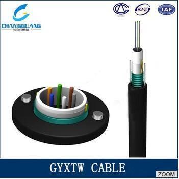 GYXTW Optical Fiber Cable Unitube Steel Tape Armored Single Mode Fiber Cable Communication Fiber Opt