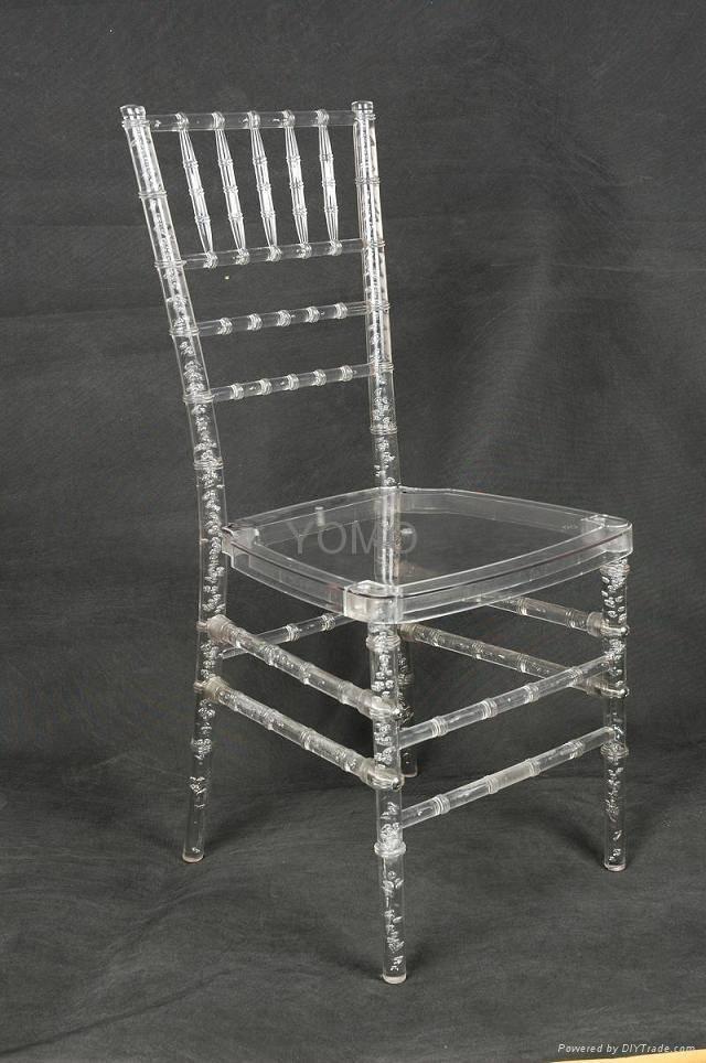 Clear Resin/Plastic Chiavari Chair(YOMO-006)