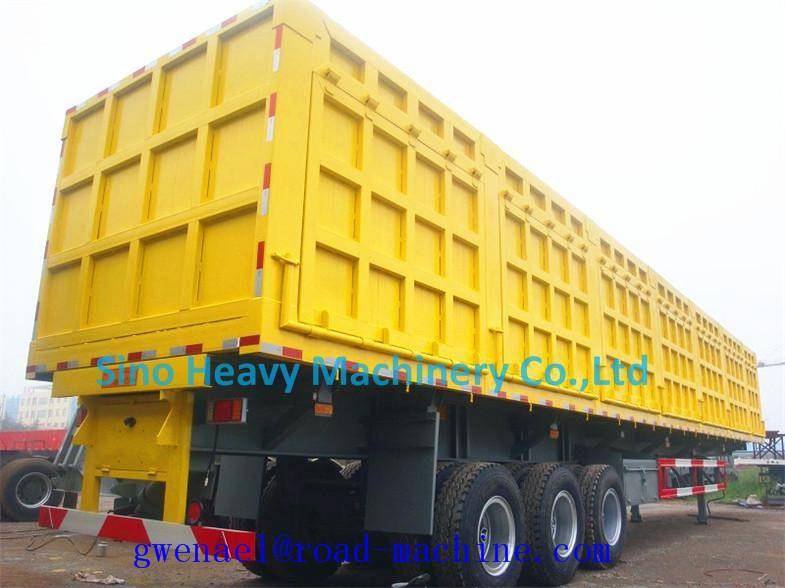 Container Cargo Lorry Trailer , 2/3/4 Axle Semi Trailer Trucks with Manual Transmission