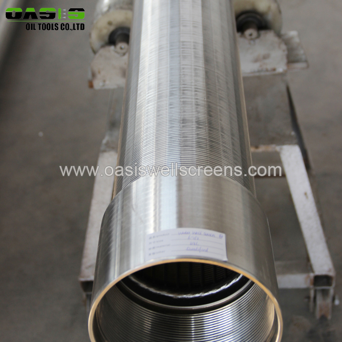 304 Stainless Steel Sand Control Use Water Well Wedge Wire Screen Filter